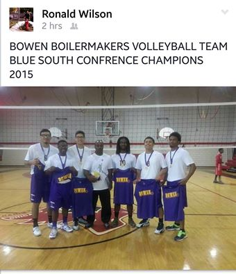Bowen Boys Volleyball win Blue South championship.