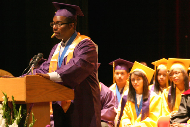 Elie Muller gave the Valedictorian Address